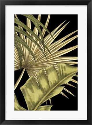 Framed Rustic Tropical Leaves II Print