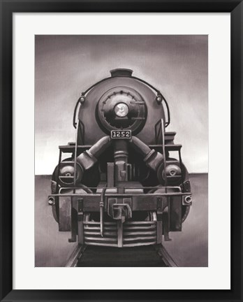 Framed Vintage Train Print