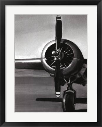 Framed Vintage Flight I Print