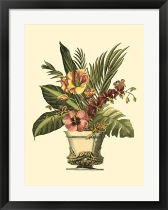 Framed Tropical Elegance I Print