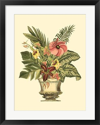 Framed Tropical Elegance II Print