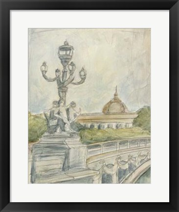 Framed View of Paris IV Print