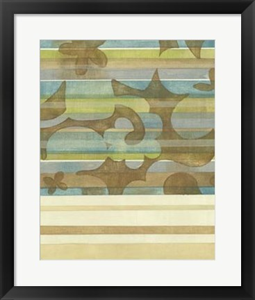 Framed Seaside Garden I Print