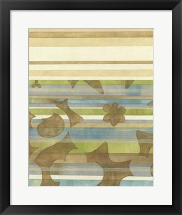 Framed Seaside Garden II Print