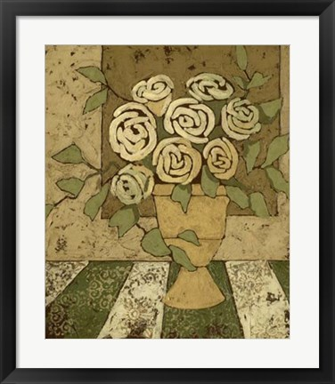 Framed Golden Bouquet II Print