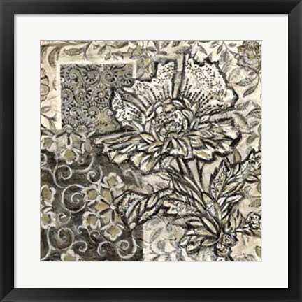 Framed Graphic Chintz III Print