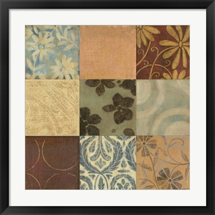 Framed Textile Patterns 9-patch Print