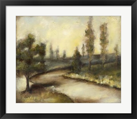 Framed Misty Morning I Print