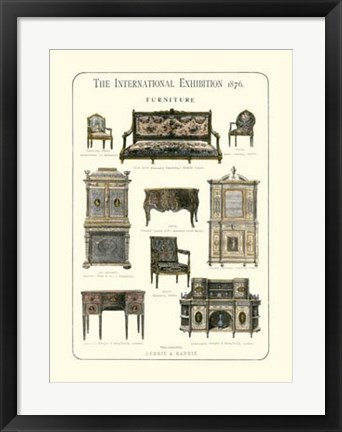 Framed Furniture 1876 Print