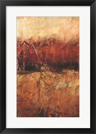 Framed Autumn Horizon I Print