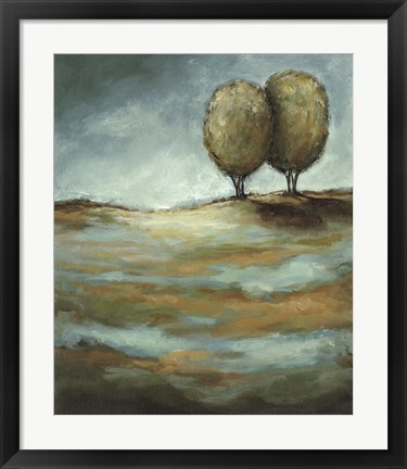 Framed Walking in the Rain Print