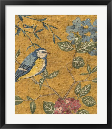 Framed Golden Chinoiserie II Print
