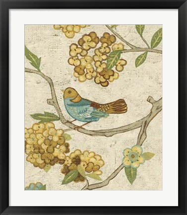 Framed Antique Aviary II Print