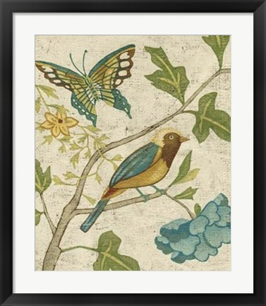 Framed Antique Aviary III Print