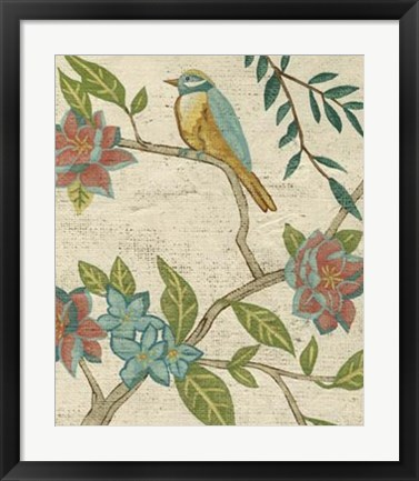 Framed Antique Aviary IV Print