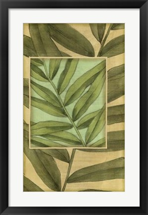 Framed Palm Inset Composition II Print