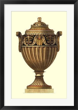 Framed Empire Urn III Print