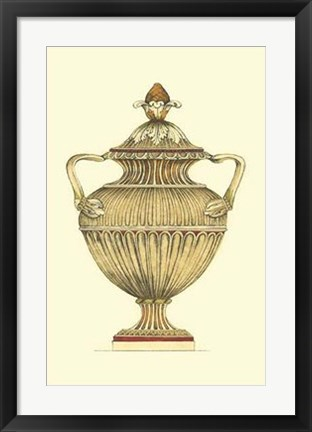 Framed Neutral Urn Sketch IV Print