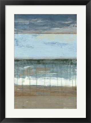 Framed Coastal Abstract II Print