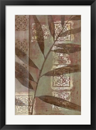 Framed Moroccan Palm I Print