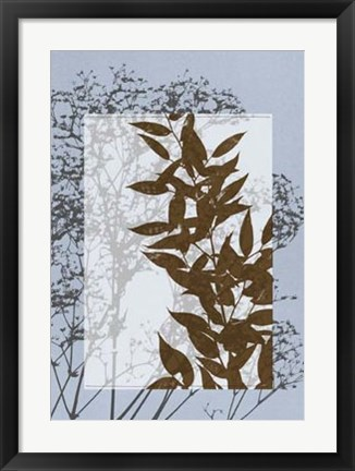 Framed Translucent Wildflowers VI Print