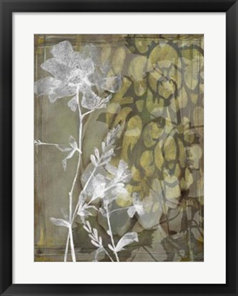 Framed Dusty Garden II Print