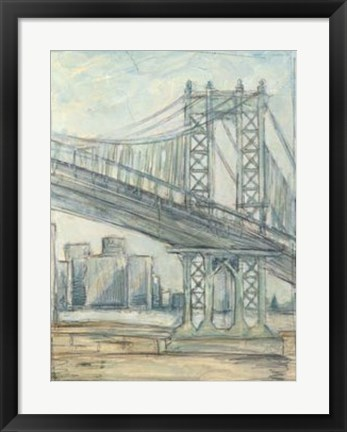 Framed Metropolitan Bridge II Print