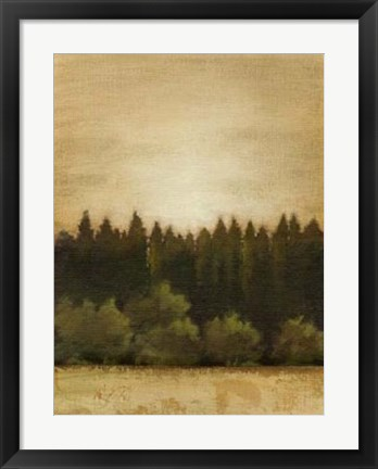 Framed Treeline Sunset I Print