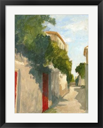 Framed Village Street II Print