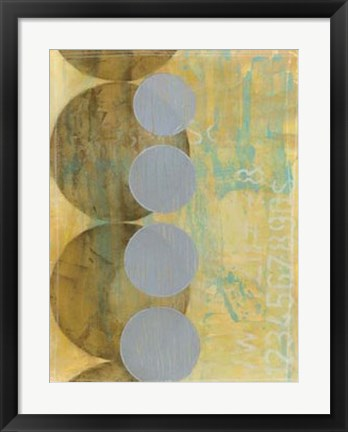 Framed Circles in Circles II Print