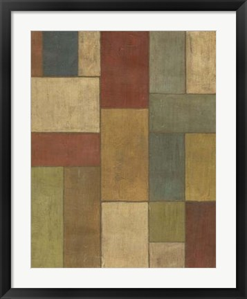Framed Tiled Abstract II Print