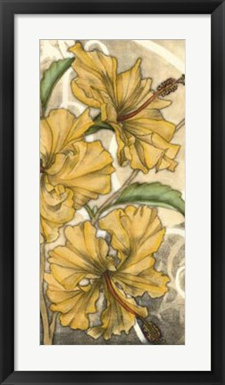 Framed Hibiscus Song II Print