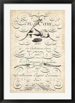 Framed Art of Penmanship Print