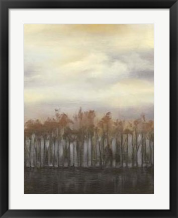 Framed Dusk in Winter Print
