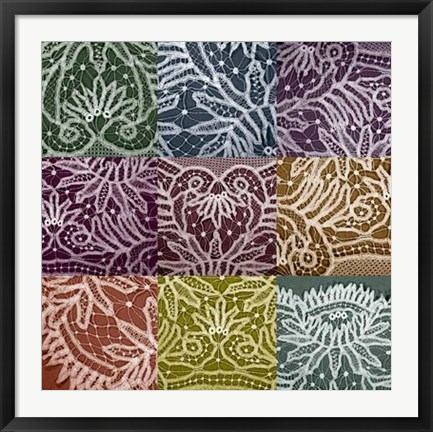 Framed Lace Sampler Print