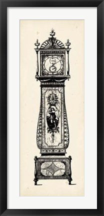 Framed Antique Grandfather Clock II Print