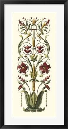 Framed Elegant Baroque Panel II Print