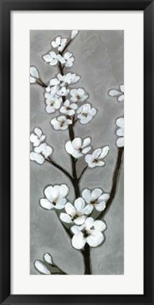 Framed White Blossoms I Print