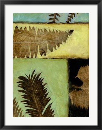 Framed Fossilized Ferns IV Print