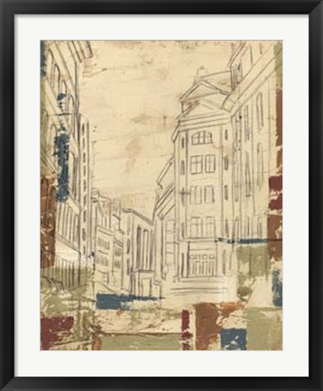 Framed Streets of Downtown II Print