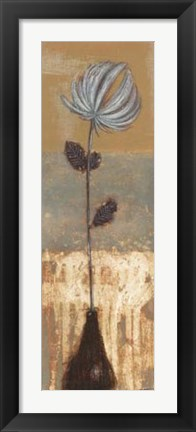 Framed Solitary Flower II Print