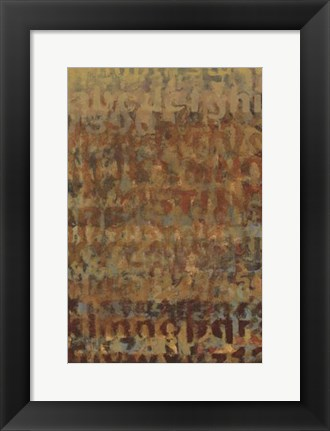 Framed Earthen Language II Print