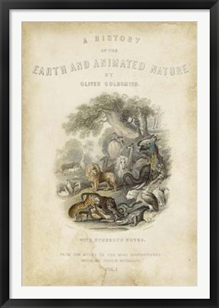 Framed Earth & Animated Nature Print