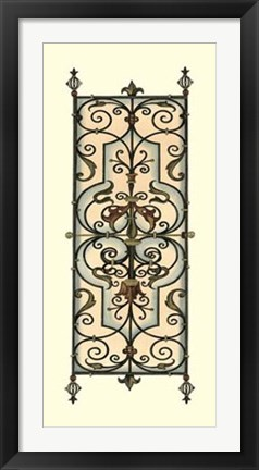 Framed Printed Wrought Iron Panels II Print