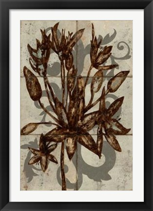 Framed Rustic Allium Print