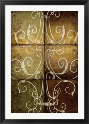 Framed Wrought Iron & Damask Print