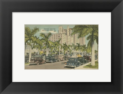 Framed Miami Beach VII Print