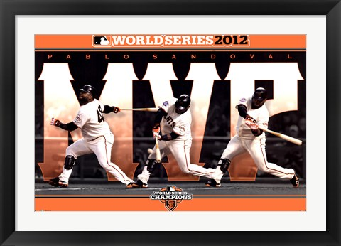 Framed 2012 World Series - MVP Print