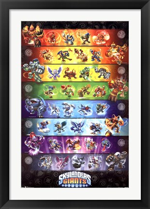 Framed Skylanders Giants - Group Print