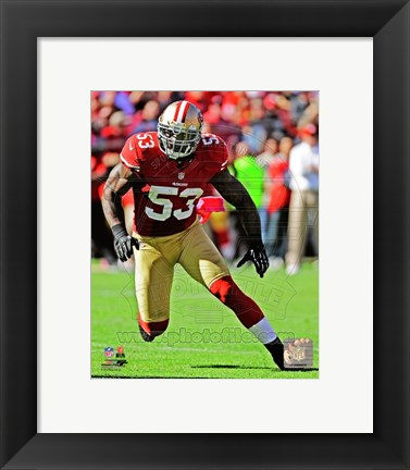 Framed NaVorro Bowman 2012 Action Print